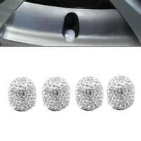 4pcs Universal Diamond Bling Tire Air Valve Stem Cap For Car Truck Bike Wheel