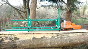 Chainsaw mill horizontal cut Alaskan log saw mill planking lumber boards milling