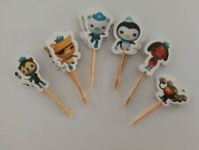 24 Pcs Octonauts CUPCAKE CAKE TOPPERS Party Supplies Lolly Loot Bags Decoration