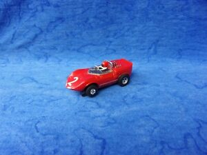 $1-5 Day Aurora Solid Red Chevy Chaparral Pat Appld Solid Rivet Tjet HO Slot Car