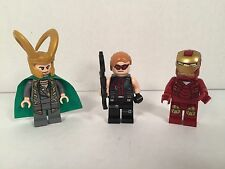 LEGO Avengers Iron Man Loki Hawkeye Marvel Lot Super Heroes