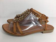 PRATIVERDI CASUAL FLAT SANDALS,Genuine leather. Handmade in Italy SIZE 40