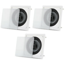 "Acoustic Audio CS-I83S Flush Mount In Ceiling Speakers with 8"" Woofers 3 Pack"