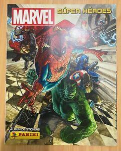Marvel Super heores Panini album (soft cover) + complete set & cards