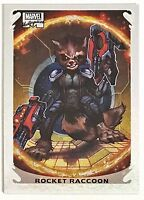 2018 UD Marvel Masterpieces Rocket Raccoon Holofoil #10 Guardians Of The Galaxy