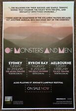 OF MONSTERS AND MEN Australia POSTER Tour 2013 Gig Concert