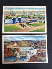 2 Vintage Postcards Marine Transportation Hall New York Worlds Fair Boulder Dam