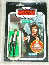 Vintage Star Wars 1982 Kenner AFA 75 HAN SOLO Large Head ESB 47 BACK CARD MOC!