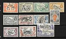 NIGERIA  1953-58    QEII   PICTORIALS  PART SET 11  FU