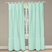 Top & Bottom Horizontal Ruffle Curtains Top Tie All size & color 2- panel