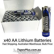 40 x AA batteries bulk AA lithium Batteries maxell