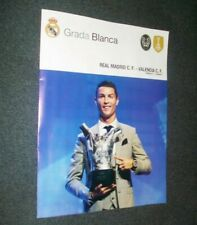 REAL MADRID home programmes GRADA BLANCA La Liga 2017 / 2018 fútbol programas