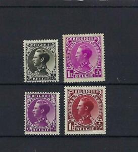 [LK15817] Belgium N°390/393 Royalty MH * COB € 44,00 MIX