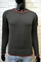 ENERGIE Maglione Cardigan Grigio Lana Uomo Taglia S Pullover Felpa Sweater Man
