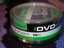 25 DVD-R 16X 4,7GB 120min INTENSO, NUOVI SIGILLATI