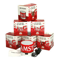 More details for 6 x amstel mini bluetooth speakers usb charging port multifunction