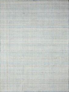5' x 8' Rug | Hand Woven Dhurrie Gray  Wool Area Rug