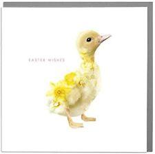 Botanical Wildlife Flowering Duckling Easter Card – Lola Design Floral Art