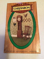 1/12 SCALE CHRYSNBON KIT #F-100 GRANDFATHER CLOCK CHAIR HAT RACK (NO PAINT)