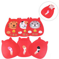 6Pcs Lucky Cat Design Red Packet 2019 Chinese Red Bag New Year Red EnveloIJ