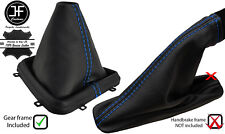 BLUE STITCH LEATHER GEAR+PLASTIC FRAME & HANDBRAKE GAITER FOR FREELANDER 2 LR2