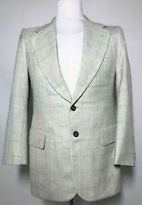 Mens Burberry Blazer Light Green Check Size S *Premium Formal Wear 8-868*