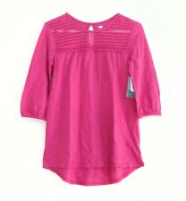 NEW Old Navy Girls Size 14 Plus Pink Lace Tunic Top - Raspberry Tart