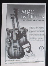 1979 MPC by Electra Leslie West Model guitar vintage print Ad
