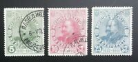 BULGARIA 1912, 25 YEARS TSAR FERDINAND REIGN, SCOTT 101/03, USED, FREE SHIPPING