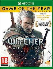 THE WITCHER 3 WILD HUNT GOTY GAME OF THE YEAR PAL ESPAÑA WINE HEARTS XBOX ONE