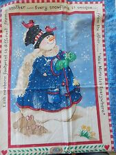 WtW Fabric Christmas Snowflake Quick Quilt Snowman Springs Daisy Kingdom 4213 ++