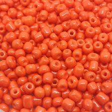 50 Gramos De Semillas De Vidrio Cuentas-Naranja Opaco-Aprox 4 Mm (tamaño 6/0)
