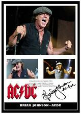 276.  AC/DC  BRIAN JOHNSON SIGNED  A4 PHOTOGRAPH GREAT GIFT