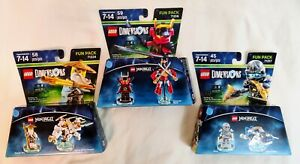 LEGO Dimensions Ninjago Zane, Sensei Wu, Nya - Used - Complete in Box