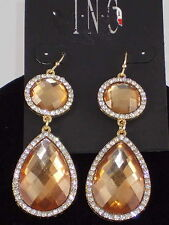 Macy's  I.N.C. Goldtone Natural Pave' Round Teardrop Double Drop Earrings $26.50