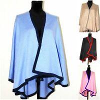 Cashmere Cape Travel Blanket Coat Poncho Shawl Women Cardigan Jacket Oversized