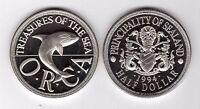 SEALAND PRINCIPALITY – RARE PROOF HALF DOLLAR UNC 1994 YEAR ORCA WHALE X#8.1