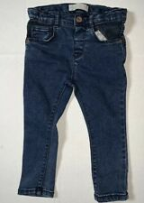 Preowned- Zara Baby Button Front Adj Jeans Boys (Size 12-18 Months)