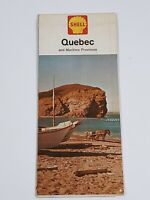 Vintage 1963 Shell Road Map For Quebec And Maritime Provinces