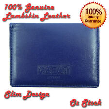 New Genuine Leather Ultra Slim Wallet Mens Womens Credit Card Holder Lambskin