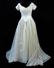 d9ccc9476dc Wedding Dress Vintage 1950s Sylvia Ann Bridal Originals Satin Organza Tulle