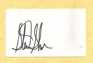Sterling Sharpe   Green Bay Packers    Signed 3x5 Index Card  COA   #5