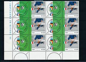 [G28165] Italy 2002 football good sheet very fine MNH