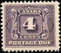 19028 Mint H Canada F+ Scott #J3 4c Postage Due Stamp