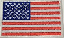 "USA FLAG EMBLEM PATCH SEW ON EASY TO USE 2""x3"""