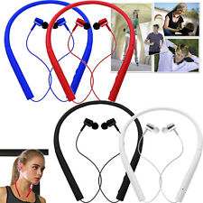 Wireless Stereo Bluetooth Headset Neckband Sports Earbud For iPhone Nokia Huawei