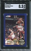 1992 Fleer Basketball #4 Team Leader Michael Jordan Card Graded SGC NM MINT+ 8.5