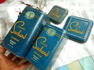 Ancienne 2 boite cacao Suchard solubilisé marque bleue 250 gr + 500 gr chocolat