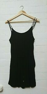 WITCHERY Label Womens Black Short Casual Summer Playsuit Jumpsuit, Size 10