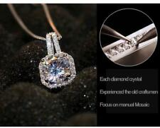 Diamond Necklace pendant platinum Finish 925 silver necklace Mothers Day Gift